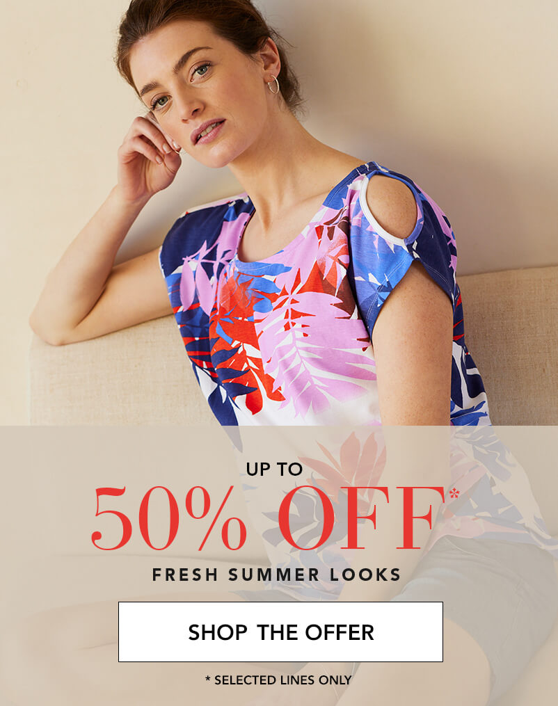 Up to 50% off Fresh Summer Looks