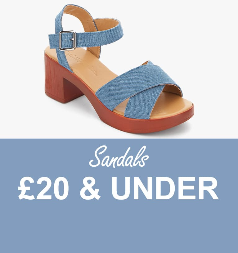 Sandals £20 and under
