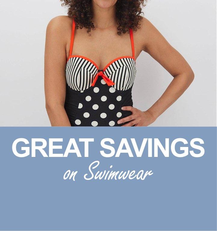 Great savings on swimwear