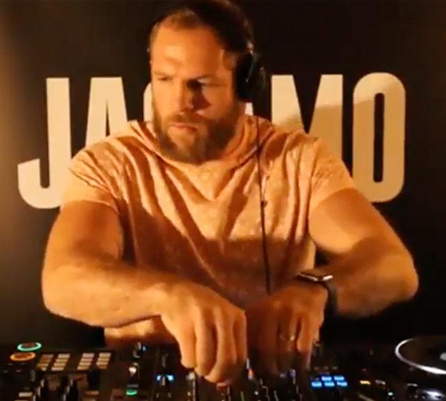 James Haskell dj-ing