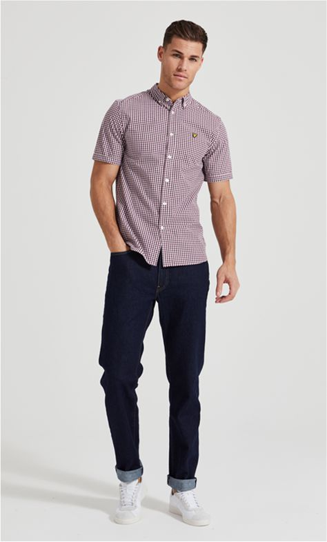 Model wearing Lyle & Scott clothes