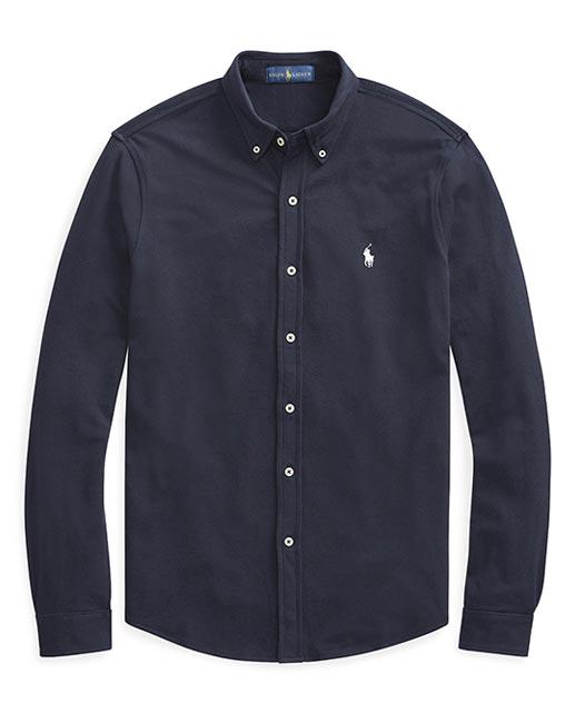 Ralph Lauren Button through mesh shirt