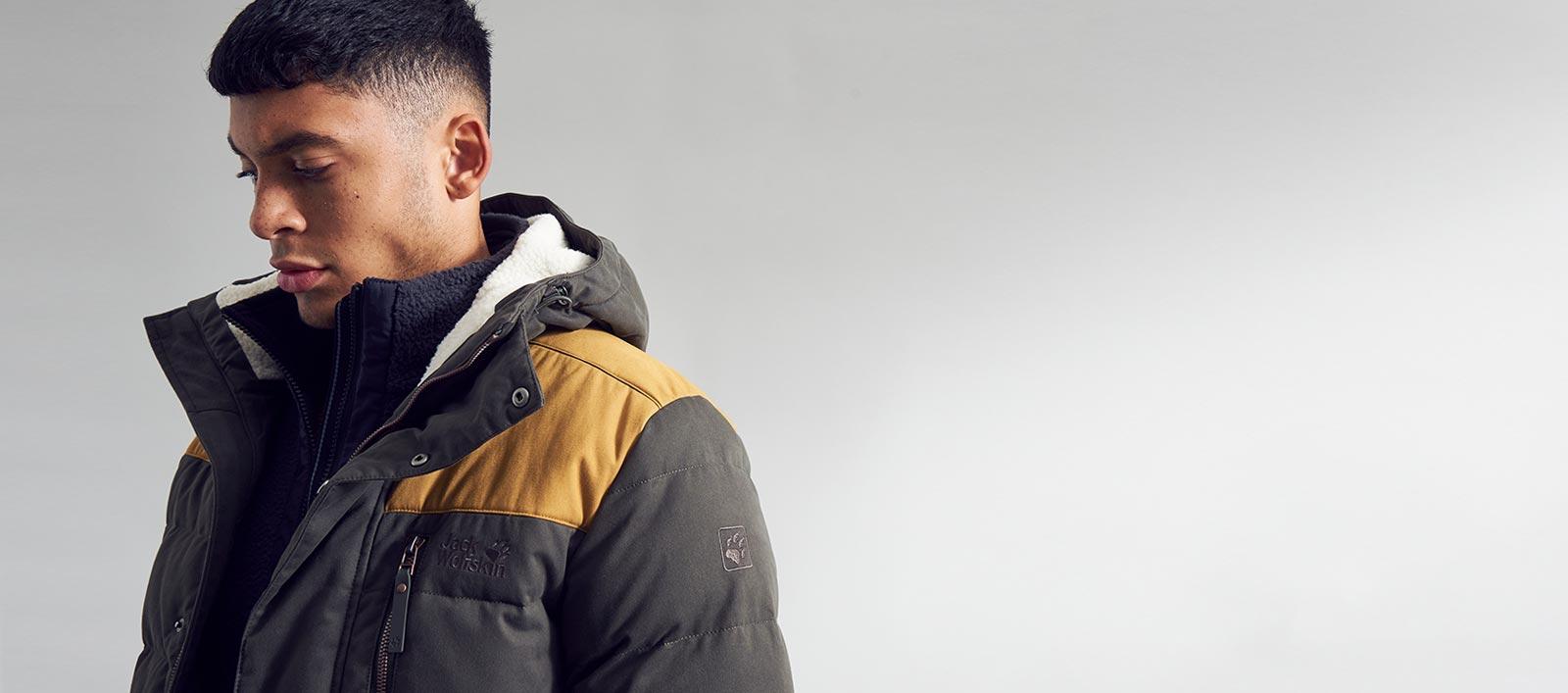 Model in Jack Wolfskin coat