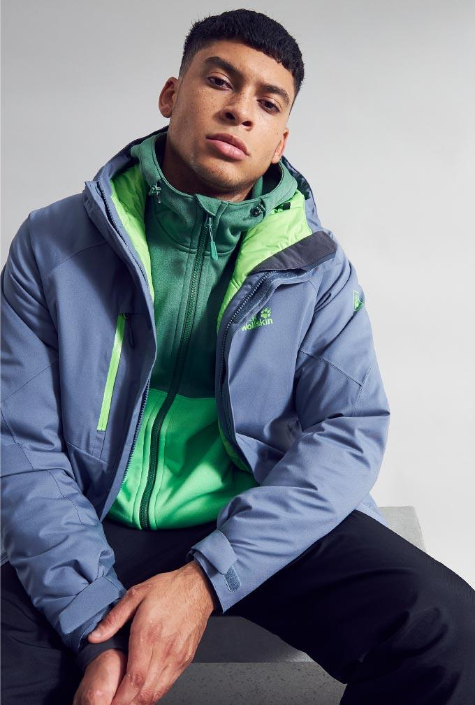 Model in Jack Wolfskin jacket
