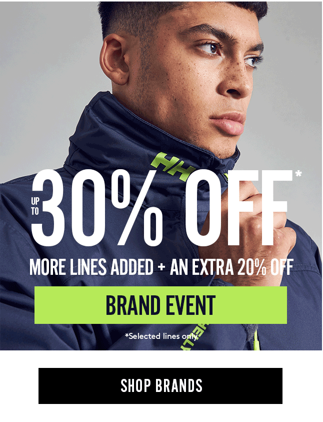 Up to 30% Off Brand Event