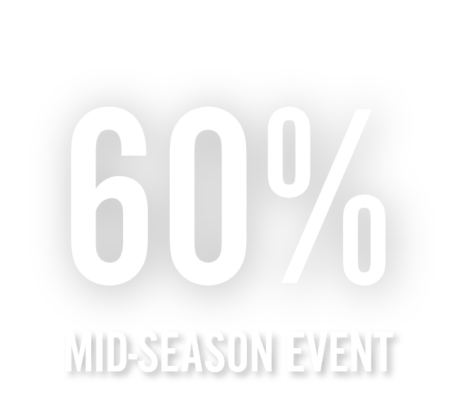 Up to 60% off mid-season event