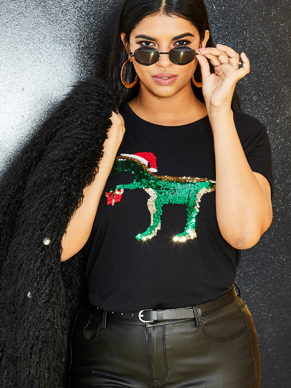 Dinosaur Xmas T-Shirt