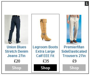 Example of advertising on an external website