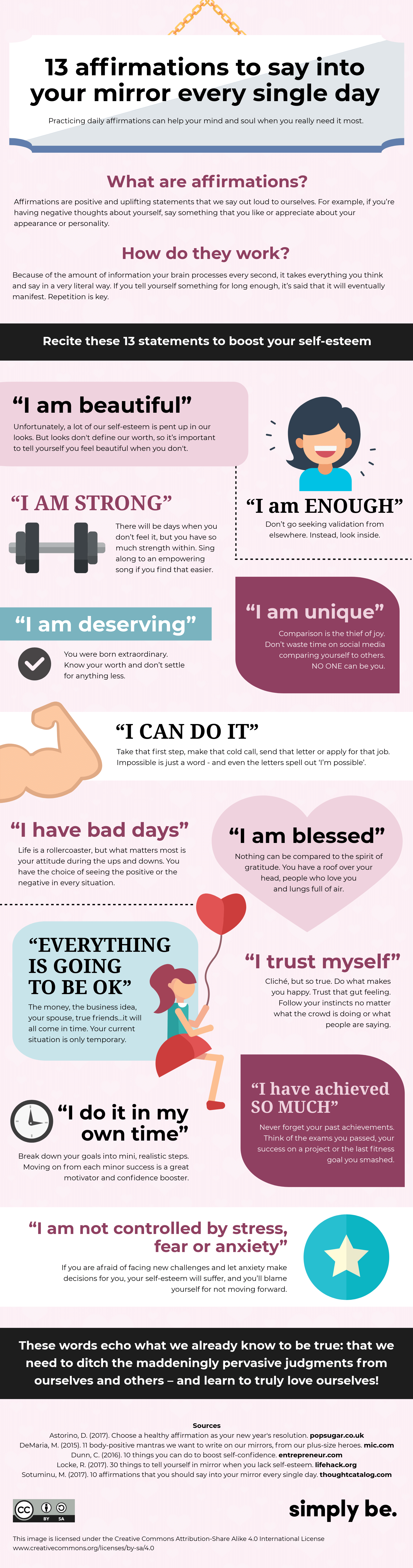 13 affirmations to say into your mirror every single day