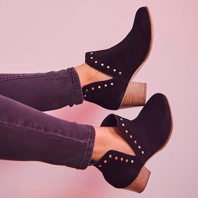 Black Stud Boots