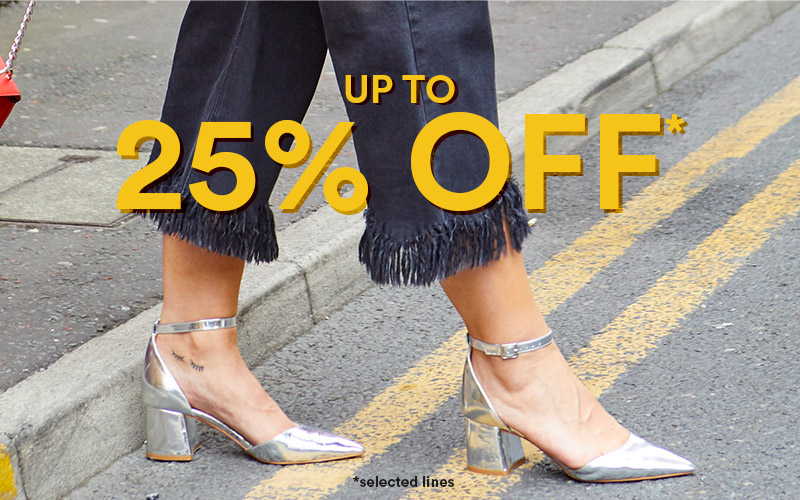 up to 25% off footwear