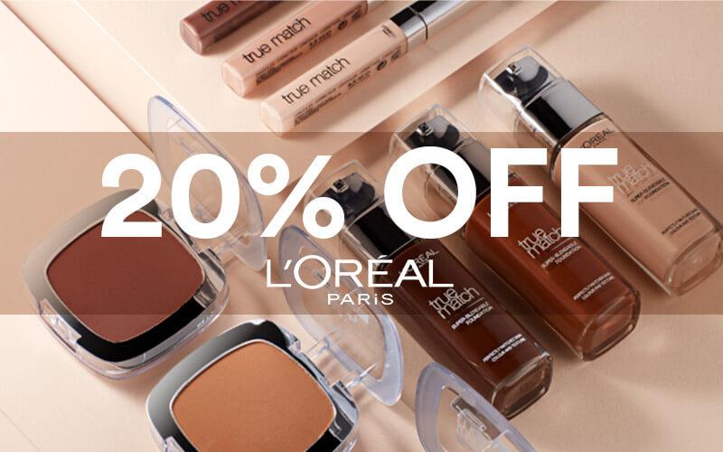 20% off L'Oréal