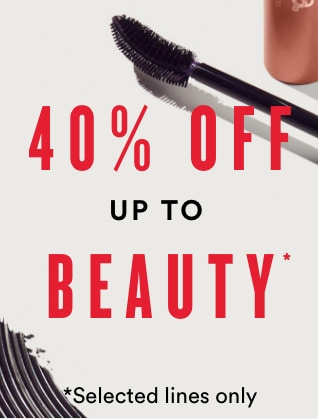 up to 40% off beauty