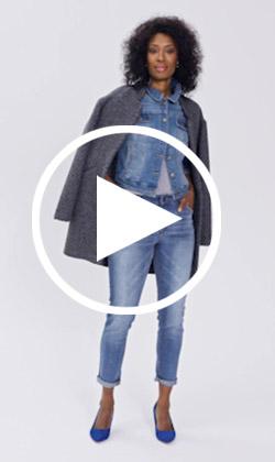 Sadie slim jeans video