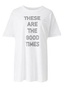 White Slogan T-Shirt