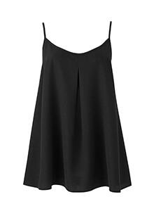 Black Cami A line Top