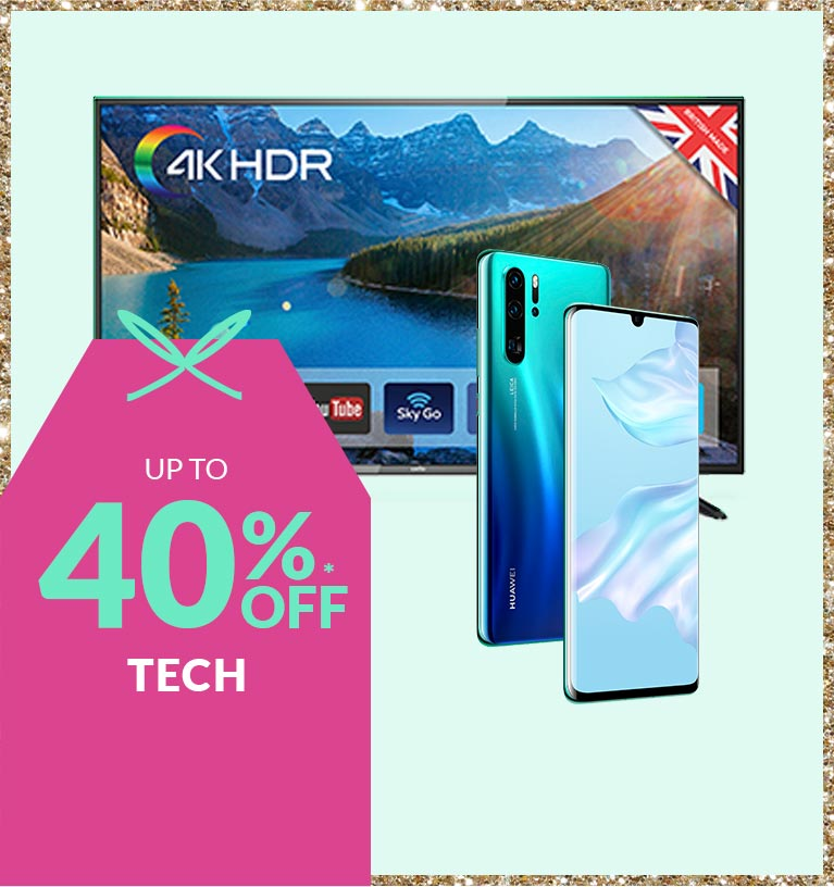 Shop up to 40% off tech