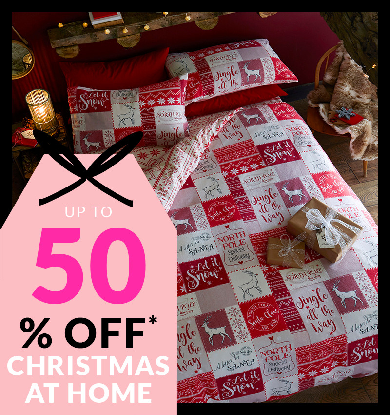 Up to 50% Off* christmas at home