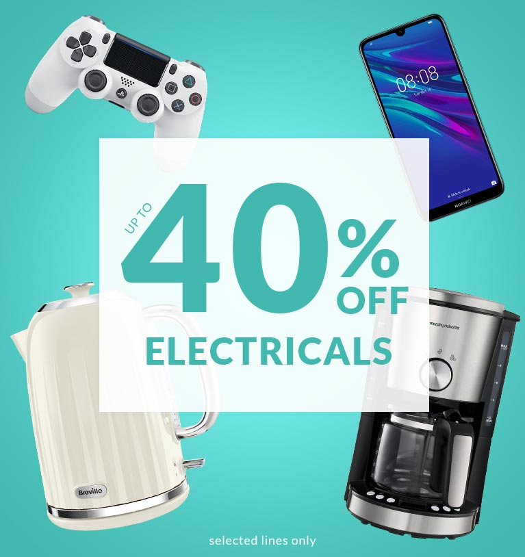 Shop up to 40% Off Electricals