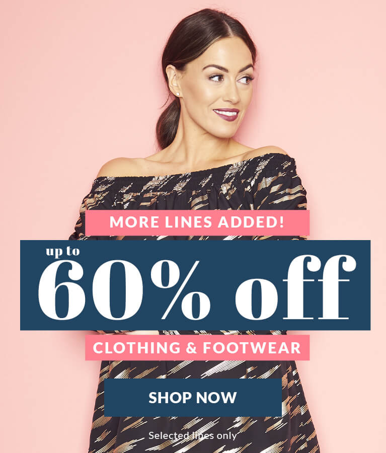 Up to 60% off clothing and footwear - More lines added!