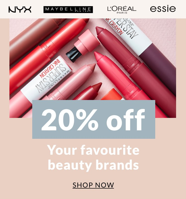 20% off youe favourite beauty brands