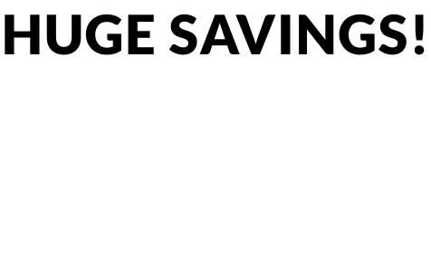 Huge savings!Up to 40% off home & electricals