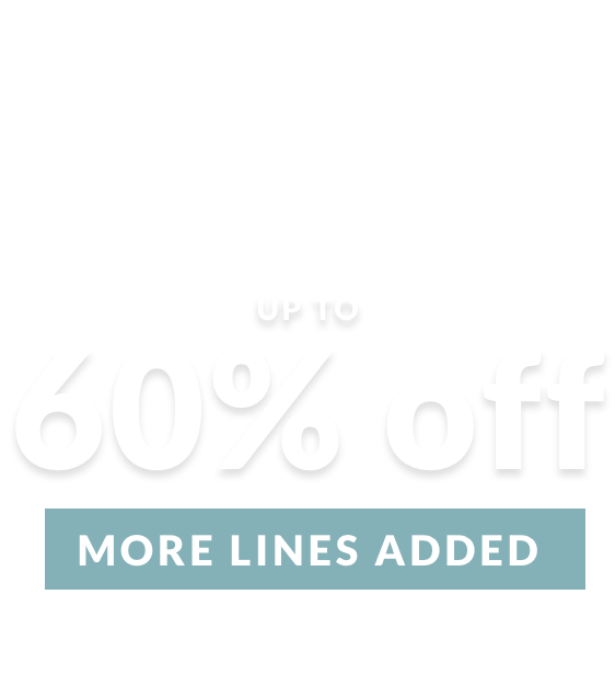 up to 60% off more lines added