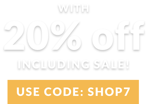 Treat yourself with 20% off including sale!