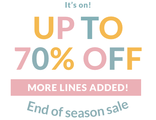 Up to 70% off End of season sale - More lines added