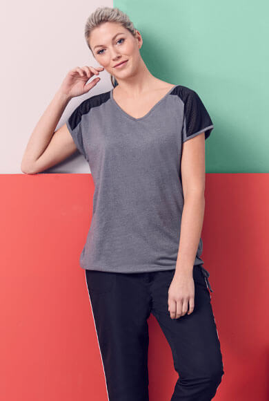 grey sports top