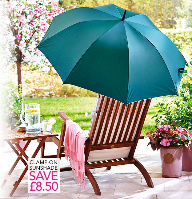Clamp-on sunshade - save £8.50