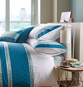 Rocco Teal Bedding Collection