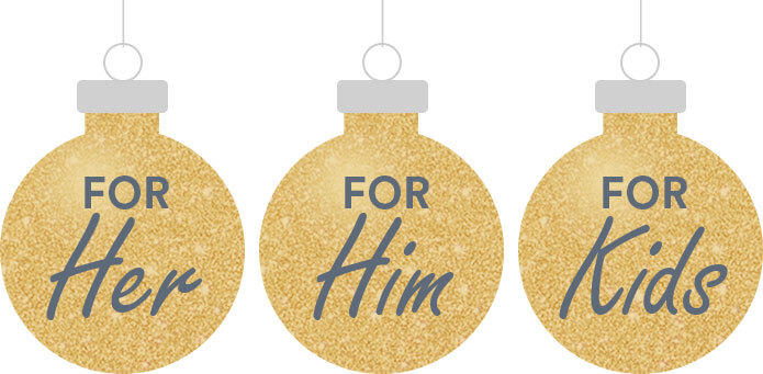 christmas ornaments; categories - for her/ for him/ for kids