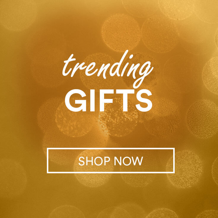 sparkles; text - trending gifts