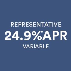 REPRESENTATIVE 24.9% APR VARIABLE