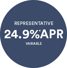 REPRESENTATIVE 24.9% APR VARIABLE