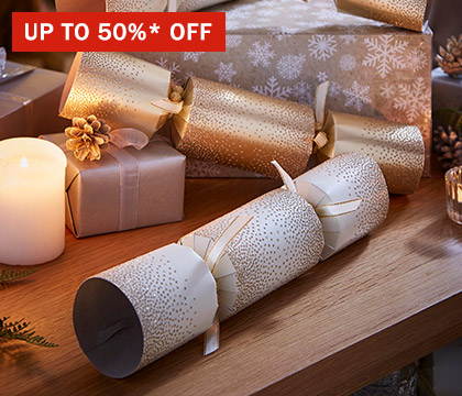 Up to 50%* off Christmas at Home