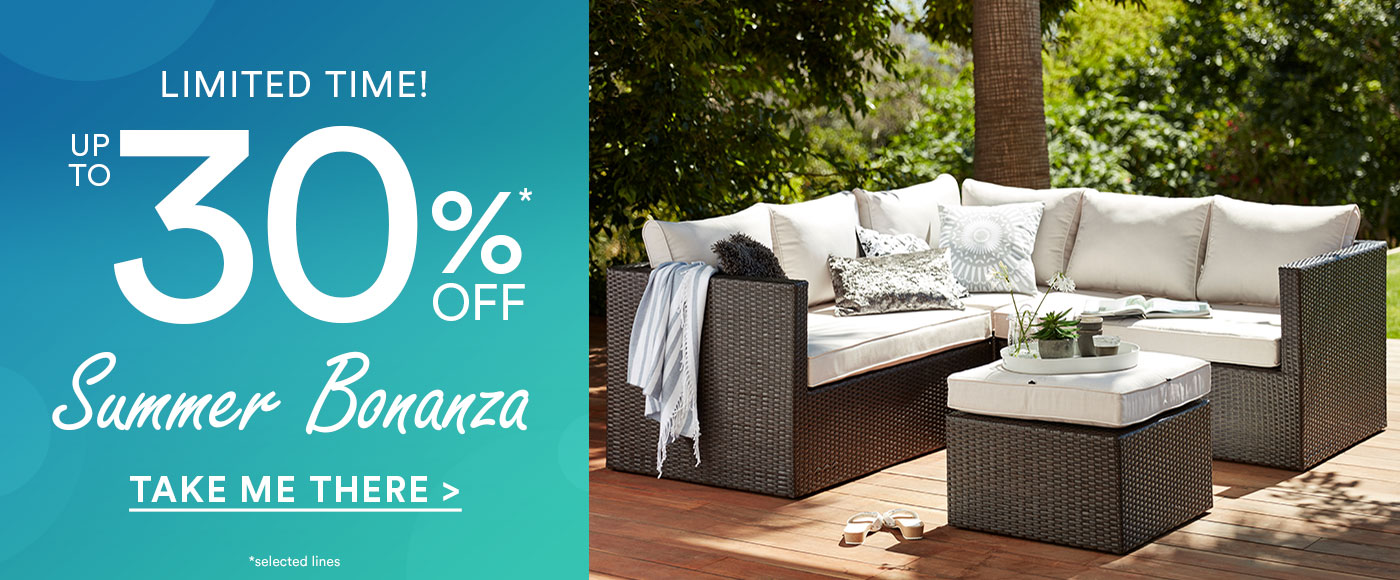 Up to 30% off Summer Bonanza