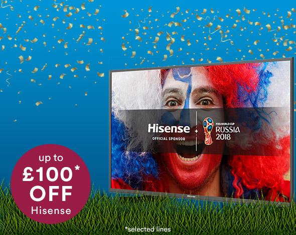Up to £100 Hisense