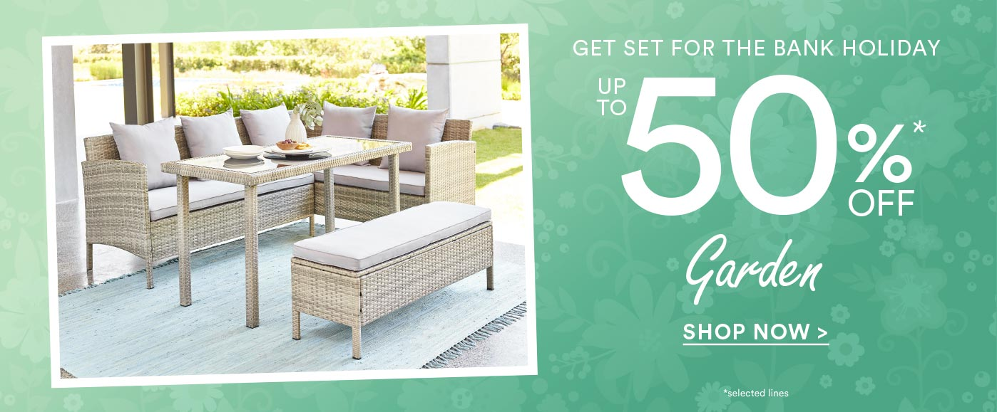 up to 50% off garden