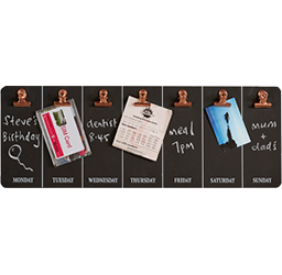 Wood Weekly Chalkboard with Clips