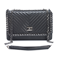Olivia Black Quilted Shoulder Bag