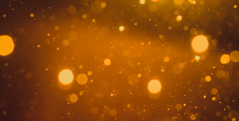 bright gold particles