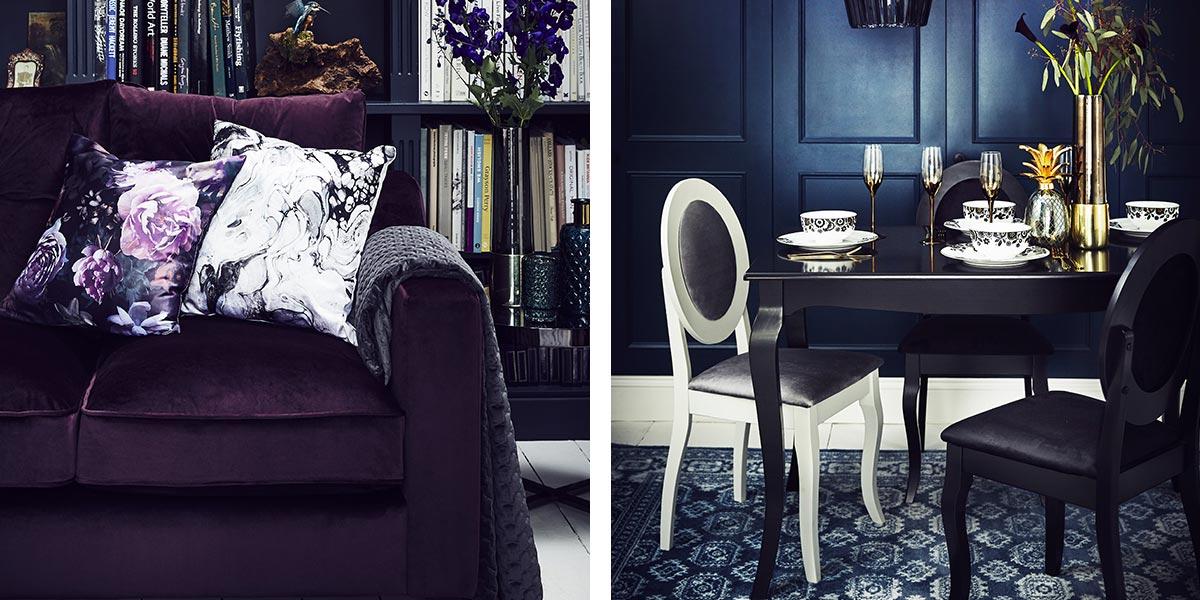 Dark Wonder living room and dining room