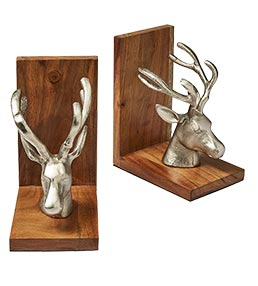 Metal Stag Book Ends