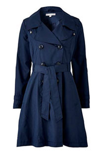 SHOWERPROOF HOODED FIT AND FLARE TRENCH