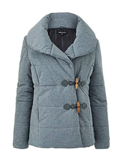PADDED JACKET WITH COWL NECK
