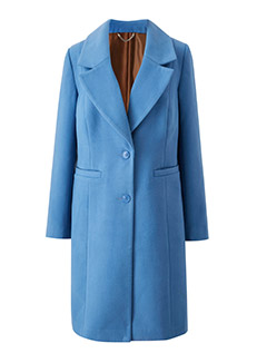 DOUBLE BREASTED SHORT COLLAR COAT