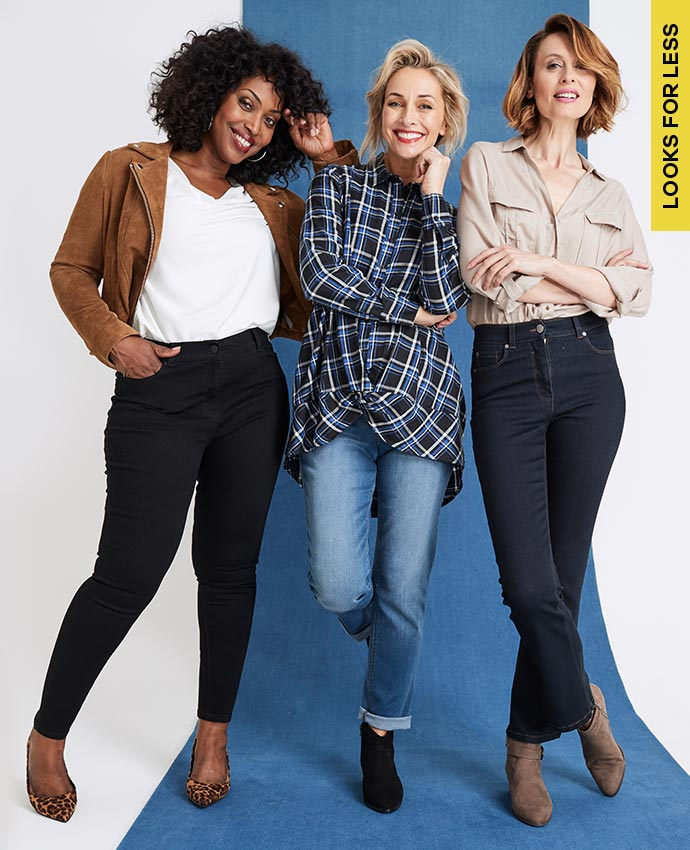 Models in denim range