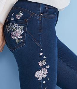 Embroidered denim detail